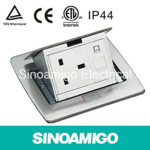 IP 44 TUV CE Stainless Pop up Floor Outlet Socket British Standard Outlet for Arrangement of Wiring Conductor pictures & photos