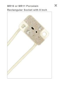 MR16 Rectangular Socket