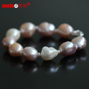 13-15mm Natural Freshwater Big Baroque Pearl Bracelets Jewelry for Women pictures & photos