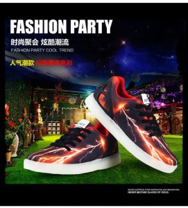 Sek Original Professional Fashion Flashing LED Shoes, Lights up Casual Shoes for Adult pictures & photos