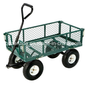 Heavy Duty Steel Mesh Utility Cart pictures & photos