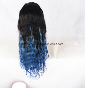Synthetic Hair Ombre Long Wavy Lace Fron Wig pictures & photos