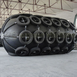 ISO 17357 Certified 2000 Mm X 3500 Mm Net Type Pneumatic Rubber Fenders for Small Vessels Transferred to Big Barge Vessels pictures & photos