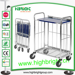 Steel Metal Foldable Collapsible Restaurant Cart pictures & photos