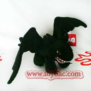 Plush Black Dragon Toy pictures & photos
