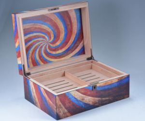 Matt Abstract Pattern Wooden Cigar Humidor pictures & photos