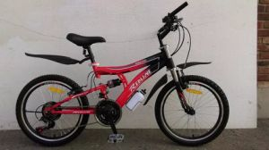 24 Inch Double Suspension Mountain Bike with Liner Pull Brake (YK-MTB-028)