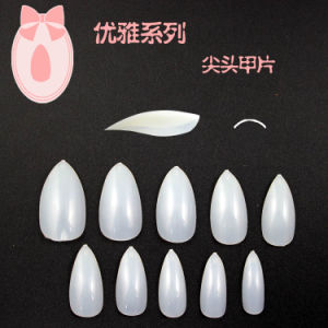 New Arrived Natural Stiletto Nail Tip Pointed Nail Tip Cusp False Nail Tips