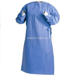 SMS Hospital Disposable Clinical Surgical Gown pictures & photos