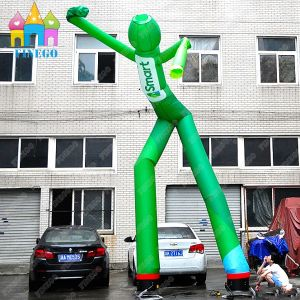 Green Air Sky Dancer Tube Inflatable Puppets for Outdoor Advertising pictures & photos