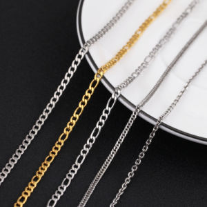 Fashion Gold Stainless Steel Fhat Nk Chain for Necklace pictures & photos