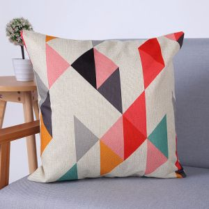 Digital Print Decorative Cushion/Pillow with Geometric Pattern (MX-61) pictures & photos
