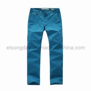 Lake Blue Outwear Cotton Spandex Men′s Trousers (U45509) pictures & photos