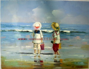 Beach Kids Oil Painting CH 001
