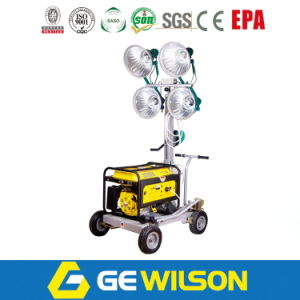 4*400W Diesel Generator Light Tower with Four Wheels pictures & photos