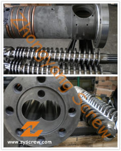Conical Twin Screw and Barrel for PVC +WPC pictures & photos
