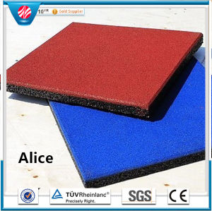 Recycle Rubber Tile/Colorful Rubber Paver/Gym Rubber Tile pictures & photos