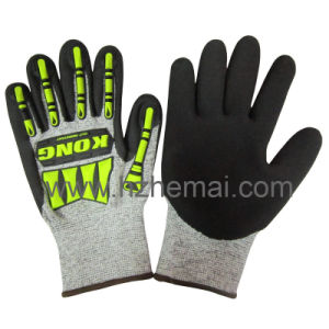 Hppe Nitrile Coated Cut Resistance Impact Gloves Safety Work Glove pictures & photos