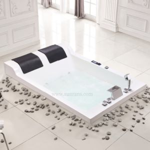 European Style Unique Antique Small Deep Whirlpool Bathtub with TV for Two People pictures & photos