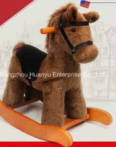 Factory Supply Rocking Horse Brown British Pony pictures & photos