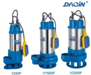 V Seires Stainless Steel Sewage Submersible Water Pump V Type pictures & photos