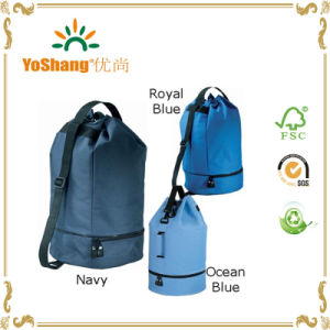 Colorful Polyester Drawstring Duffle Bag Gym Bags with Shoe Pocket pictures & photos
