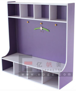 Factory Customized Movable Kids Library Bookself with Wheels pictures & photos