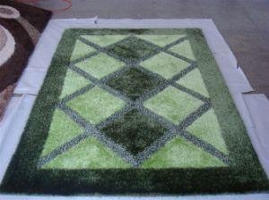Chinese Hand Made Gray Silk Carpet