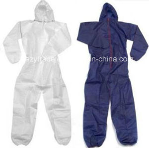 Disposable Flame Retardant Protective Coverall for Cleanroom pictures & photos