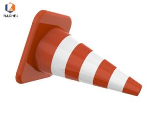 Flexible Reflective PU Orange Traffic Cones pictures & photos