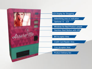 Wall Mounting AV-Cl Box Packaged Commodity Vending Machine for Condom, Cigarette, Tests