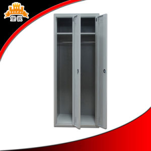 Two Door Steel Clothes Cabinet pictures & photos