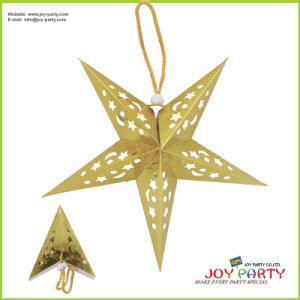 Gold Lacer Star Paper Lantern