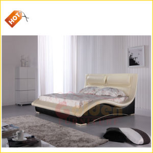 Luxuriant Bed Design Furniture Wooden for Bedroom D2840# pictures & photos