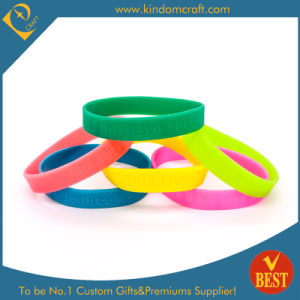 Customized Logo Printed Silicone Wristband From China at Low Price pictures & photos