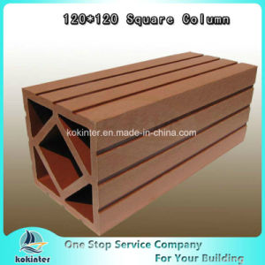 WPC Fence Square Column Waterproof Wood Plastic Railing pictures & photos