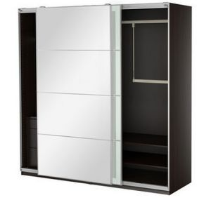 Two Doors Sliding Wardrobe with Fittings (hotsale) pictures & photos