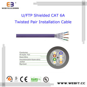 U/FTP Shielded Cat 6A Twisted Pair Installation Cable, CAT6A U/FTP Data Cable / LAN Cable /Network Cable pictures & photos