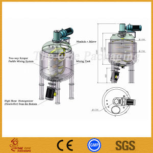 Shanghai Port Reactor/Emulsifying Machine/ Cream Blending Tank pictures & photos