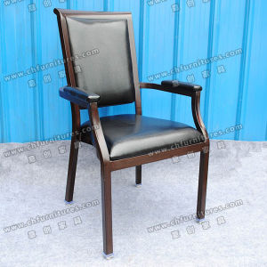 Black Leather Dining Armchair (YC-E65-07) pictures & photos