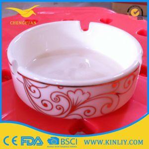High Quality Ceramic Multicolor Souvenir Round Cigarette Ashtray pictures & photos