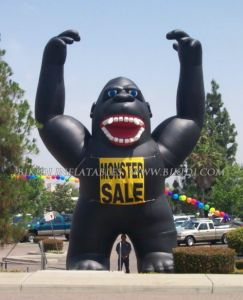 China Inflatable Gorilla Giant Balloons Rooftop Balloon