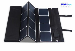 Canvas Fabric 120W Folding Sunpower Solar Panel Charger with 18V Output for for Laptop, Boat, Golf Cart 12V Batery (FSC-120A) pictures & photos
