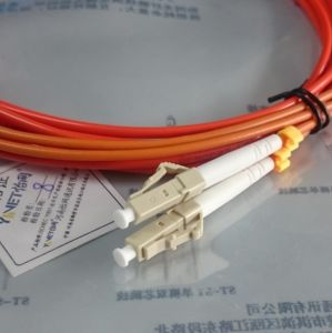 Fiber Patch Cord Om3 Based LSZH Jacket Duplex LC Connector pictures & photos