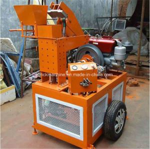 Mobile Hydroform Style Clay Soil Interlocking Construction Machine with Brick Making Machine Price pictures & photos