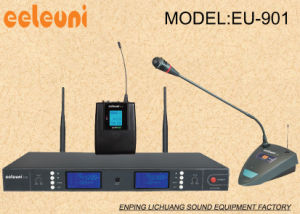 Professional Hot Sale UHF& Pll Sythesized Dual Channels Wireless Microphone