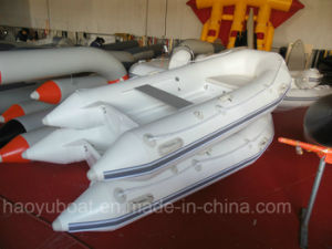 10.2feet 3.1m Fiberglass Hull Boat with CE Rib Boat with Outboard Motor Fishing Boat pictures & photos