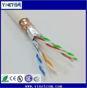 FTP Cat5e LSZH Networking Cable /CAT6 23AWG 4pairs Double Shielded LAN Cable pictures & photos