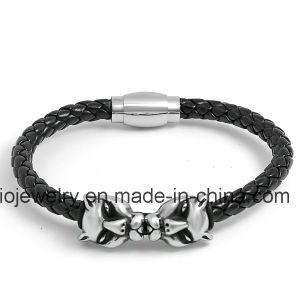 Handmade Braided Rope Leather Mens Bracelet pictures & photos