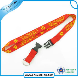 Custom Woven Label Neck Lanyard with safety Breakaway Buckle pictures & photos
